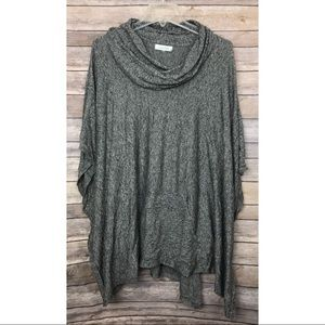 Sweaters - •Calvin Klein• Heathered Gray Cowl Neck Tunic Top